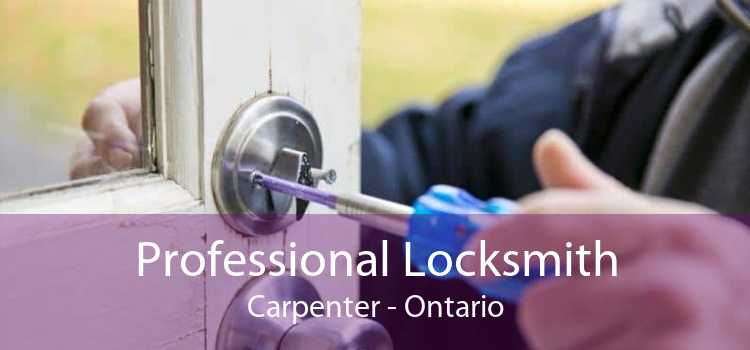 Professional Locksmith Carpenter - Ontario